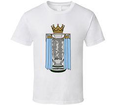Manchester City Fc 2012 Premier League Champions Roster Fan T Shirt Premier League Champions, Shirt Price, Manchester City, Shirt Style, Cool Designs, Soccer, Fan, Hoodies, Mens Tops