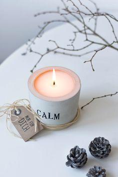 [Kreativ-Adventskalender:Türchen #15] Leuchtende Geschenkidee: Beton-Kerzenlicht   s i n n e n r a u s c h