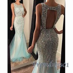 2016 unique design sparkly sequins prom dress, long ball gown by Promdress01 #coniefox