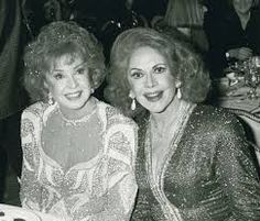 Audrey Meadows and her older sister Jayne attending Night of 100 Stars in New York, 1990