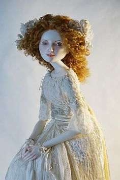 Sophie.Porcelain doll by Oksana Saharova. collection  Muses by Alphonse Mucha. Porcelain, 65cm