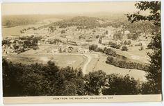 "Vintage RPPC, ""View from the Mountain"" - Haliburton, Ontario"