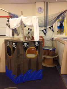 My pirate ship role play area.