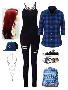 """""""Another Day"""" by dazzling-dazed-dayz ❤ liked on Polyvore featuring Miss Selfridge, Converse, Billabong and Pull&Bear"""