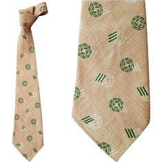 1940s Men's Necktie Palm Beach Neck Tie Mint