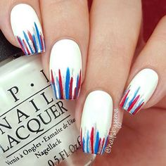streifen Popular Of July Nails To Feel Like America's Supergir. , streifen Popular Of July Nails To Feel Like America's Supergirl. streifen streifen Popular Of July Nails To Feel Like America's Supergir. Nail Art Diy, Diy Nails, Cute Nails, Pretty Nails, Manicure Ideas, Pedicure Designs, Gorgeous Nails, Nail Tips, Striped Nail Designs