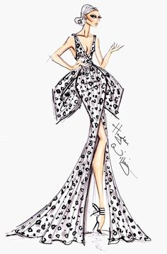 Hayden Williams Fashion Illustrations: Hayden Williams Haute Couture V Hayden Williams, Fashion Design Drawings, Fashion Sketches, Dress Sketches, Fashion Sketchbook, Fashion Illustration Dresses, Fashion Illustrations, Illustration Mode, Fashion Figures