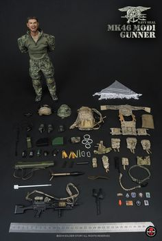 1/6 Scale Soldier Story US Navy SEAL MK-46 MOD1 GUNNER MIB in Toys & Hobbies | eBay Army & Navy, Us Army, Small Soldiers, Military Costumes, Us Navy Seals, Military Action Figures, Tactical Gear, Brain Science, Scale