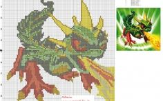 Camo Skylanders Giants cross stitch pattern