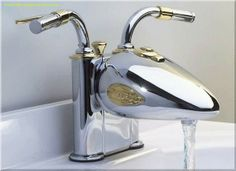 Pro photo of the bike inspired faucet.