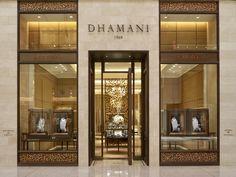 Интерьер ювелирного магазина Dhamani 1969 в Дубае