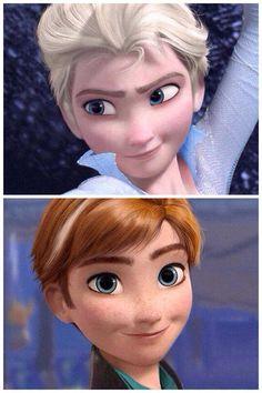 Frozen Gender-bender -- a bit too feminine in my opinion