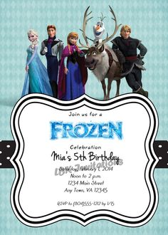 Frozen Birthday Party Invitation