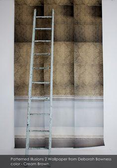 Illusions of Grandeur - Patterned Illusions 2 wallpaper from Deborah Bowness in Cream Brown