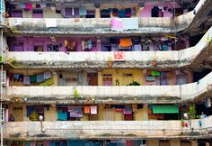 A colorful apartment block in Mumbai, India, by Shanna Baker