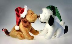 Kohls Magnetic Kissing Christmas Holiday Plush Dog w Sound Motion Lights #Kohls