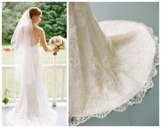 """{REAL BRIDE} Nothing like a happy bride.Farrell Klein wore """"Lyda"""" gown by Sarah Jassir.  Amazing image by Marni Rothschild Pictures LLC. http://www.angeliquebridal.com/blog/blog.php?entry_id=1428946533&title=rustic-chic-vermont-wedding"""