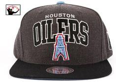 2873e56c77b Throwback Oilers Arch Snapback Houston Oilers