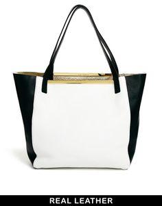 52004b8948d6a2 Ted Baker Black   White Reversible Shopper at asos.com