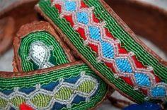 Saami belts/bracelets Ancient Symbols, Ancient Art, Kola Peninsula, Lappland, Native Style, Blue Flowers, Handicraft, Tatting, Belts