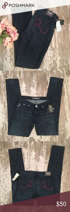 """👖NWT Rock & Republic Berlin Skinny Jeans, Size 30 NWT Hades Blue wash, size 30. 98% Cotton , 2% Lycra Spandex. Skinny fit. 34"""" inseam, 8"""" rise, 16.5"""" waist. Bundle & Save More! Check it my other size 30 jeans listings! 💘💕 Rock & Republic Jeans Skinny"""