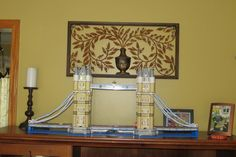 Decorating with Legos - Tower Bridge in my living room:-)
