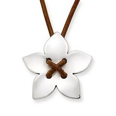 Flower on Leather Necklace at James Avery
