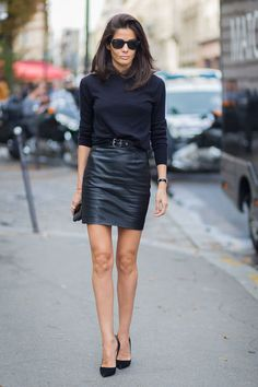 What to Wear on Valentine's Day: A leather skirt