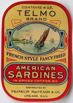 TELMO, Vintage Sardine Label