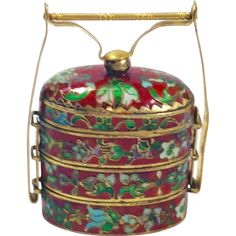 #Antique at www.rubylane.com @rubylanecom Antique Japanese Meiji Period, or older, Cloisonné Inro with 24kt Gold