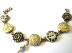 WEST POINT cadet antique button bracelet. Show support for your cadet!