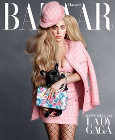 US Harper's Bazaar - September 2014 cover with Lady Gaga