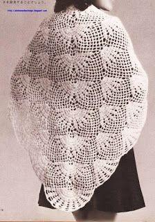 Crochet Knitting Handicraft: shawl Crochet Poncho, Crochet Motif, Irish Crochet, Crochet Flowers, Crochet Stitches, Crochet Patterns, Classic Mini, Crochet For Kids, Crochet Clothes