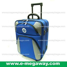 Blue Luggage Suitcases Trolley Rolling Bags Lawn Bowls Travel MegawayBags #CC-1002