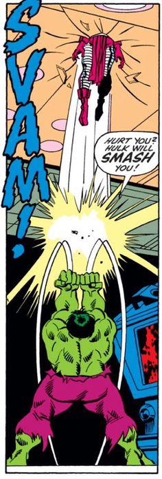 Hulk by Sal Buscema vs some really unlucky guy
