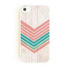 On Your Case Inc Wood Geometric Mint & Coral - iPhone 4 Case ($20) ❤ liked on Polyvore featuring accessories, tech accessories, phone cases, phones, cases, iphone, mint, wooden iphone case, pattern iphone case and slim iphone case