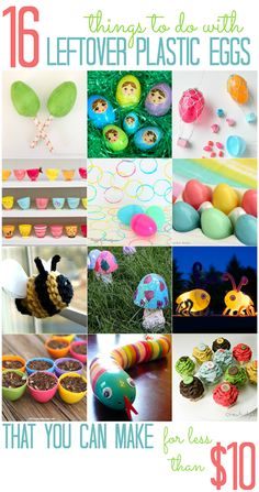 16 Things To Do with Leftover Plastic Eggs (that you can make for less than $10!) - All Cheap Crafts