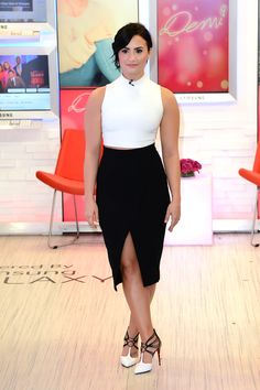 Demi Lovato on Good Morning America in New York City on March 12, 2015.   - Cosmopolitan.com