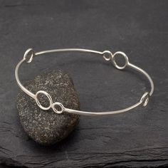 Handmade Sterling Silver Ring Silver Circles Ring Circle