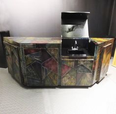 Paul Evans Custom Cabinet with Built in Bar Sink image 2