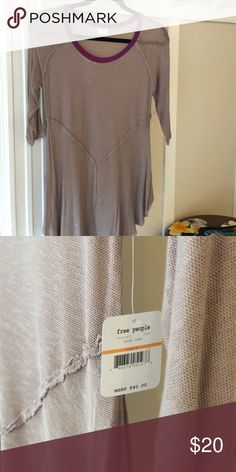Free People top Mocha colored free people 3/4 top. Brand new with tags! Free People Tops
