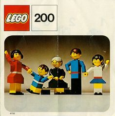 When lego people had to be built.Me and my little sister played so much with these!