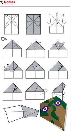 como fazer avião de papel 7