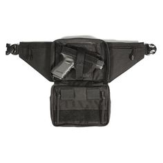 """BLACKHAWK Concealed Weapon Fanny Pack Fits Medium Frame Revolver/Compact Automatic Pistol Ambidextrous Black discreet fanny pack design allows you to carry """"hidden in plain sight"""" thanks to an internal"""" fully adjustable universal holster with Protection Rapprochée, Urban Carry, Shooting Gear, Tactical Bag, Gun Holster, Concealment Holsters, Large Frames, Hunting Guns, Concealed Carry"""