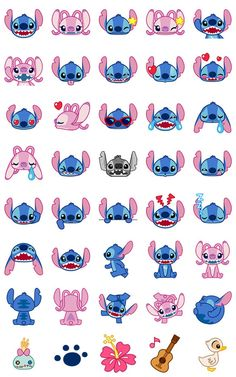 Disney Stitch Washi emoji planner stickers 40 pcs version 1 by JpKrHk on Etsy material: washi paper (easy remove, can write on it) quantity: 40 pcs color: as photos +Many cute and funny items in our store ^_^ Stitch Disney, Lilo Y Stitch, Cute Stitch, Disney Artwork, Disney Drawings, Cute Drawings, Planner Stickers, Wallpaper Iphone Disney, Cute Disney Wallpaper