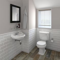 For bathroom paint colour. Metro tiles used to great effect with the Oxford cloakroom suite Metro Tiles Bathroom, White Bathroom Tiles, Master Bathroom, Metro Tiles Kitchen, Light Grey Bathrooms, Neutral Bathroom, Metro White, Cloakroom Suites, Cloakroom Ideas