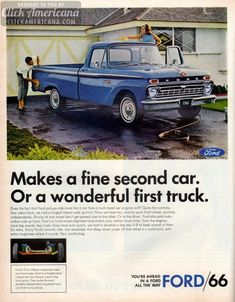 Smooth-riding Ford pickup trucks 1966