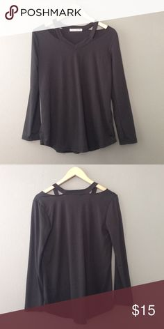 FlashSale!! Peek-a-Boo Collar Long Sleeve 24 hour flash sale!! Going on vacation for a week and want to clear out closet! Never worn, only tried on Tops Tees - Long Sleeve