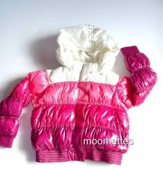 Old Navy Puffer Jacket Hoodie Hood Parka Coat #Fuchsia Pink #Girls Small 6 7 S #OldNavy #PufferJacket #Everyday