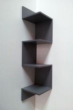 The Most Disregarded Answer for Space-Saving Corner Shelf Design Ideas - Corner wall shelves - Corner Shelf Design, Diy Corner Shelf, Corner Wall Shelves, Wall Shelves Design, Diy Shelving, Room Shelves, Diy Home Decor, Room Decor, Diy Furniture